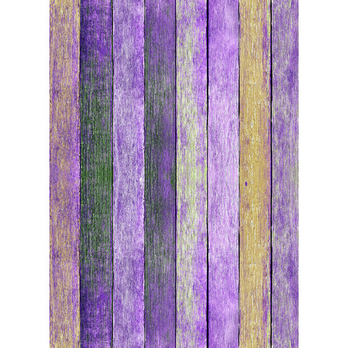 Westcott Rustic Wood Art Canvas Backdrop with Grommets (5 x 7', Bold Purple)