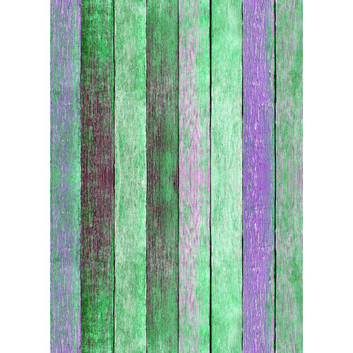 Westcott Rustic Wood Matte Vinyl Backdrop with Grommets (5 x 7', Bold Green)