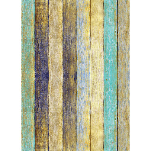 Westcott Rustic Wood Matte Vinyl Backdrop with Grommets (5 x 7', Bold Yellow)