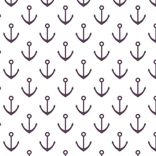 Westcott Anchors Pattern Art Canvas Backdrop with Hook-and-Loop Attachment (3.5 x 3.5', Purple)