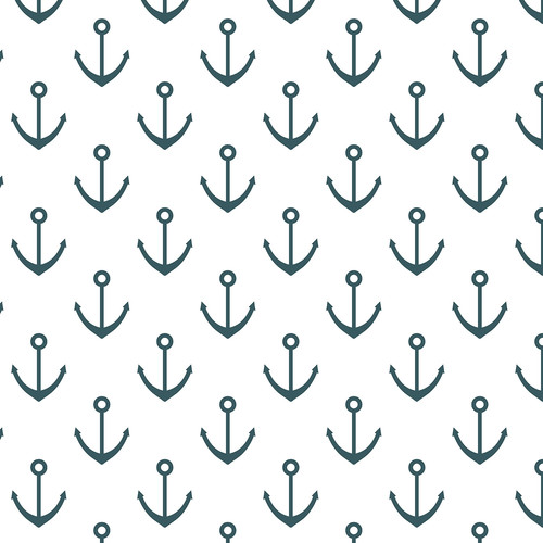Westcott Anchors Pattern Matte Vinyl Backdrop with Hook-and-Loop Attachment (3.5 x 3.5', Turquoise)