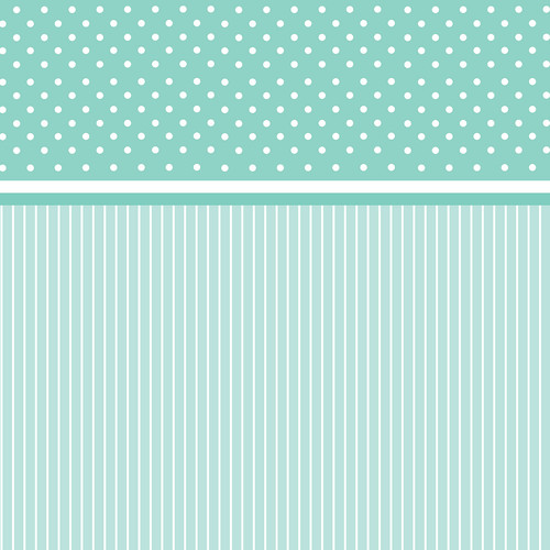 Westcott Dots-and-Stripes Art Canvas Backdrop with Hook-and-Loop Attachment (3.5 x 3.5', Turquoise)