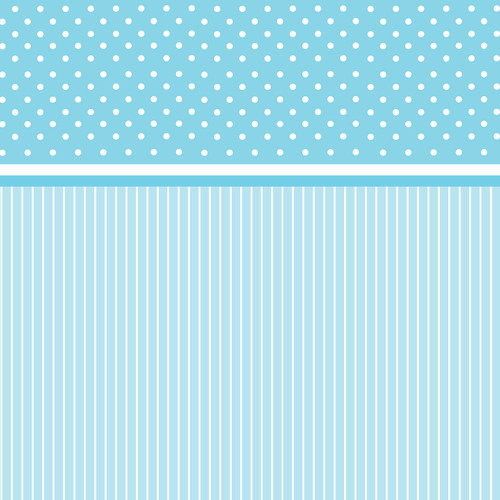 Westcott Dots-and-Stripes Art Canvas Backdrop with Hook-and-Loop Attachment (3.5 x 3.5', Blue)