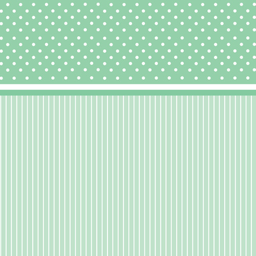 Westcott Dots-and-Stripes Art Canvas Backdrop with Hook-and-Loop Attachment (3.5 x 3.5', Green)