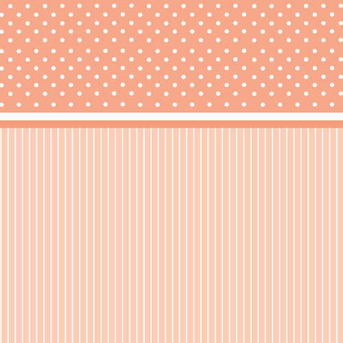 Westcott Dots-and-Stripes Art Canvas Backdrop with Hook-and-Loop Attachment (3.5 x 3.5', Orange)