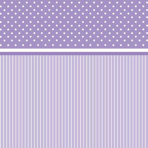 Westcott Dots-and-Stripes Art Canvas Backdrop with Hook-and-Loop Attachment (3.5 x 3.5', Purple)