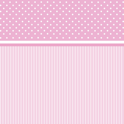 Westcott Dots-and-Stripes Matte Vinyl Backdrop with Hook-and-Loop Attachment (3.5 x 3.5', Pink)