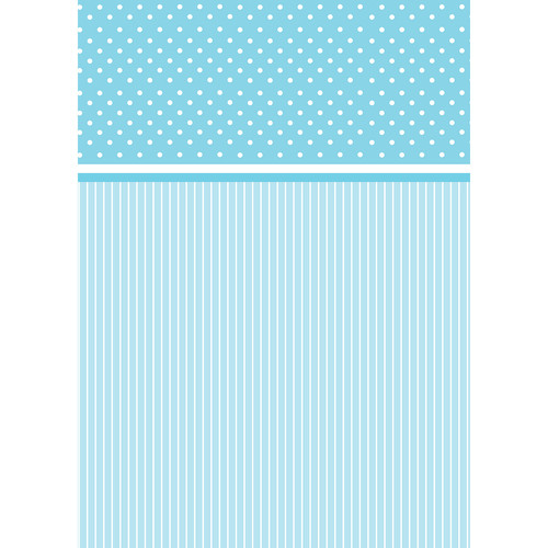 Westcott Dots-and-Stripes Art Canvas Backdrop with Grommets (5 x 7', Blue)