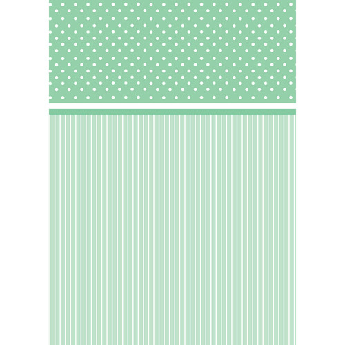 Westcott Dots-and-Stripes Art Canvas Backdrop with Grommets (5 x 7', Green)