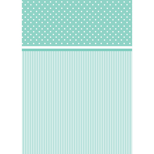 Westcott Dots-and-Stripes Pattern Matte Vinyl Backdrop with Grommets (5 x 7', Turquoise)