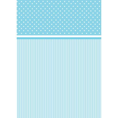 Westcott Dots-and-Stripes Pattern Matte Vinyl Backdrop with Grommets (5 x 7', Blue)