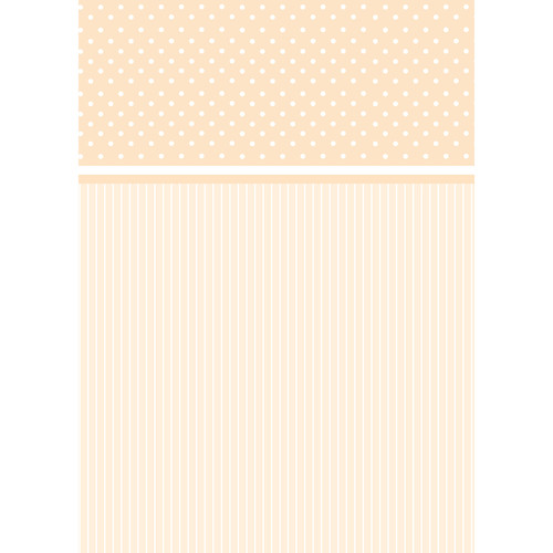 Westcott Dots-and-Stripes Pattern Matte Vinyl Backdrop with Grommets (5 x 7', Brown)