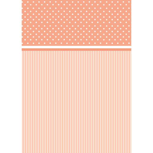 Westcott Dots-and-Stripes Pattern Matte Vinyl Backdrop with Grommets (5 x 7', Orange)