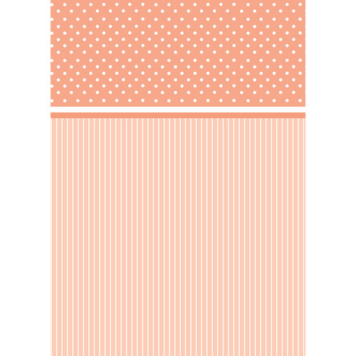 Westcott Dots-and-Stripes Pattern Matte Vinyl Backdrop with Grommets (5 x 7', Orange)