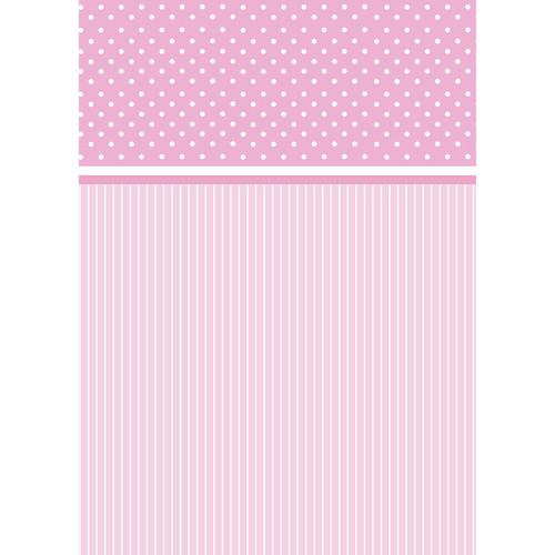 Westcott Dots-and-Stripes Pattern Matte Vinyl Backdrop with Grommets (5 x 7', Pink)