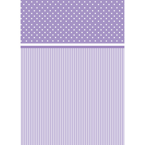 Westcott Dots-and-Stripes Pattern Matte Vinyl Backdrop with Grommets (5 x 7', Purple)