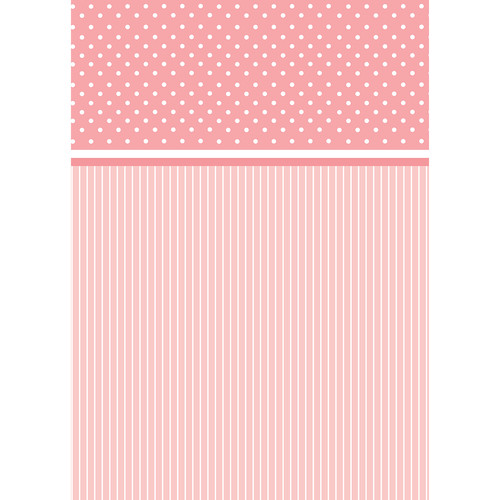 Westcott Dots-and-Stripes Pattern Matte Vinyl Backdrop with Grommets (5 x 7', Red)