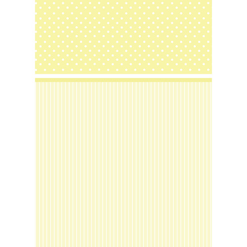 Westcott Dots-and-Stripes Pattern Matte Vinyl Backdrop with Grommets (5 x 7', Yellow)