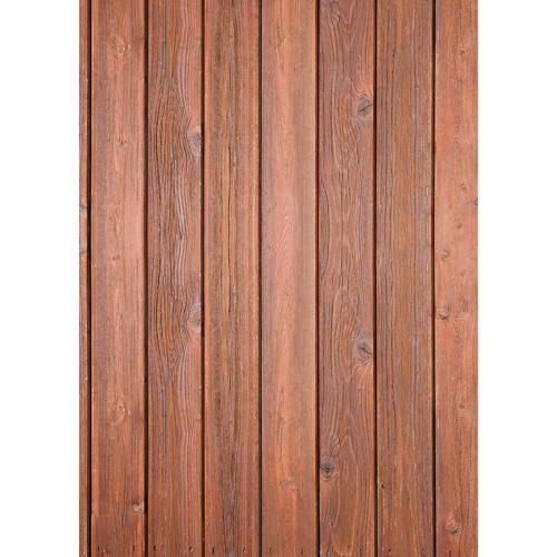 Westcott Narrow Planks Pattern Matte Vinyl Backdrop with Grommets (5 x 7', Light Cherry)