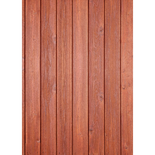 Westcott Narrow Planks Pattern Matte Vinyl Backdrop with Grommets (5 x 7', Cherry)