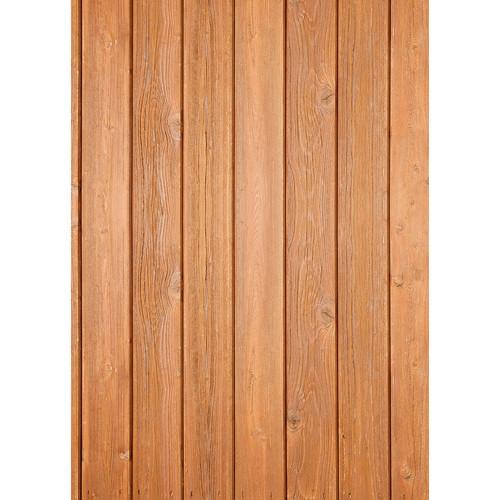Westcott Narrow Planks Pattern Matte Vinyl Backdrop with Grommets (5 x 7', Oak)