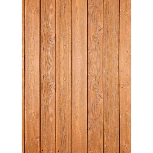 Westcott Narrow Planks Pattern Matte Vinyl Backdrop with Grommets (5 x 7', Oak)