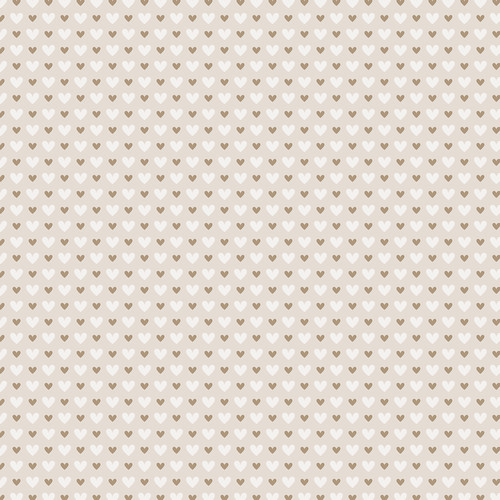 Westcott Hearts Art Canvas Backdrop with Hook-and-Loop Attachment (3.5 x 3.5', Brown and White Pattern, Tan Background)