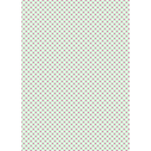 Westcott Hearts Art Canvas Backdrop with Grommets (5 x 7', Fuschia and White Pattern, Green Background)