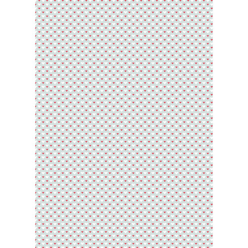 Westcott Hearts Art Canvas Backdrop with Grommets (5 x 7', Red and White Pattern, Green Background)