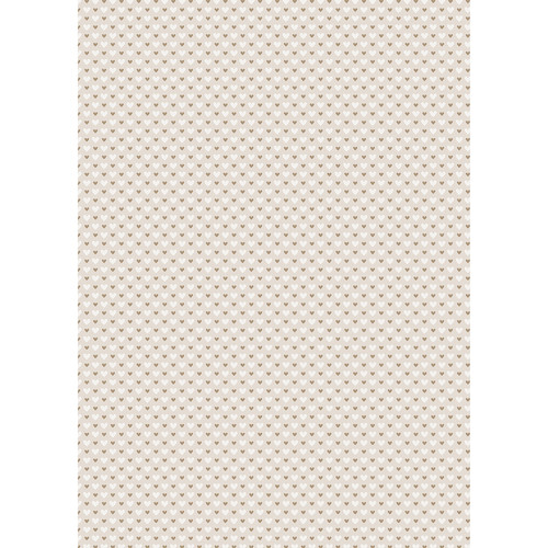 Westcott Hearts Art Canvas Backdrop with Grommets (5 x 7', Brown and White Pattern, Tan Background)