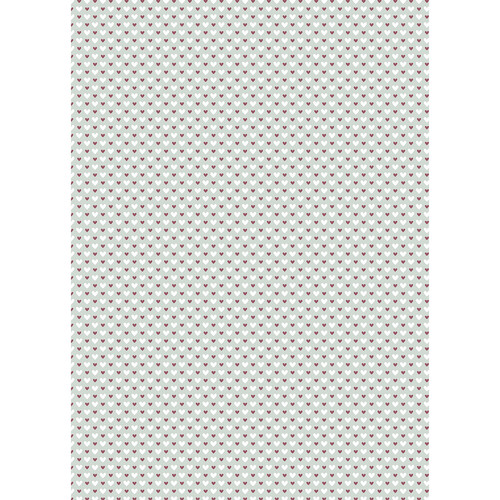 Westcott Hearts Art Canvas Backdrop with Grommets (5 x 7', Red and White Pattern, Sage Background)