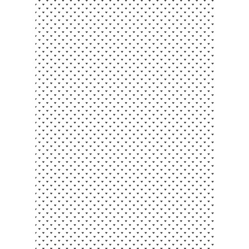 Westcott Hearts Art Canvas Backdrop with Grommets (5 x 7', Black Pattern, White Background)