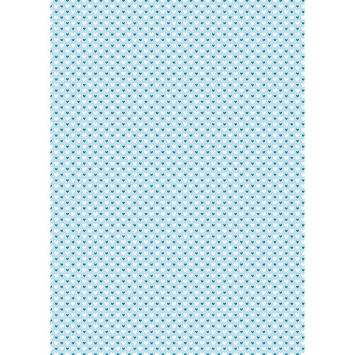 Westcott Hearts Pattern Matte Vinyl Backdrop with Grommets (5 x 7', Blue and White)