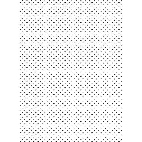 Westcott Hearts Pattern Matte Vinyl Backdrop with Grommets (5 x 7', Black)