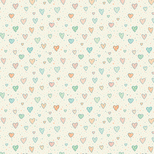 Westcott Sketched Hearts Matte Vinyl Backdrop with Hook-and-Loop Attachment (3.5 x 3.5', Multi-Color)