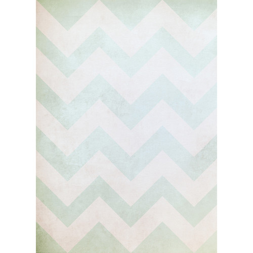 Westcott Washed Chevron Art Canvas Backdrop with Grommets (5 x 7', Vintage Blue)