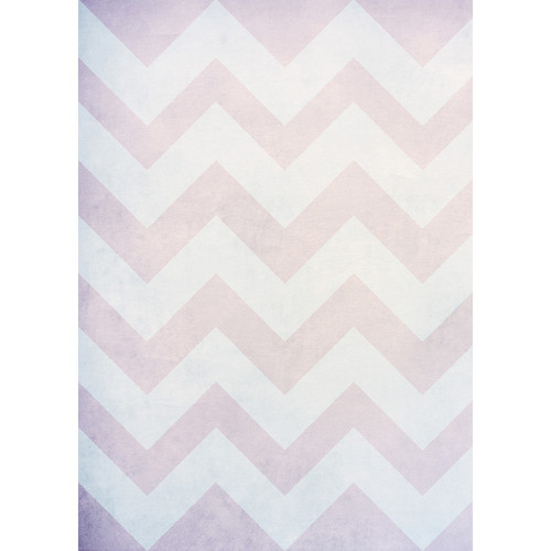 Westcott Washed Chevron Art Canvas Backdrop with Grommets (5 x 7', Vintage Brown)