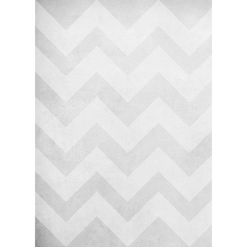 Westcott Washed Chevron Art Canvas Backdrop with Grommets (5 x 7', Vintage Gray)
