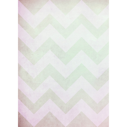Westcott Washed Chevron Matte Vinyl Backdrop with Grommets (5 x 7', Vintage Green)