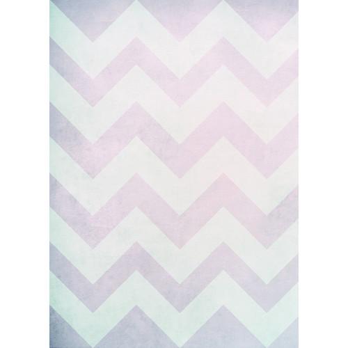 Westcott Washed Chevron Matte Vinyl Backdrop with Grommets (5 x 7', Vintage Pink)