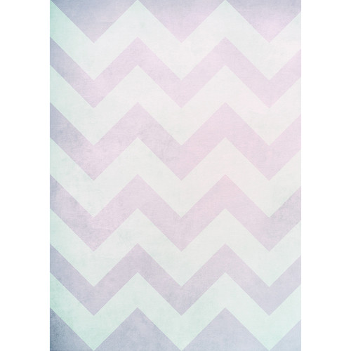 Westcott Washed Chevron Matte Vinyl Backdrop with Grommets (5 x 7', Vintage Pink)