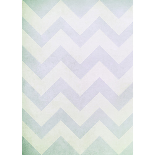 Westcott Washed Chevron Matte Vinyl Backdrop with Grommets (5 x 7', Vintage Purple)
