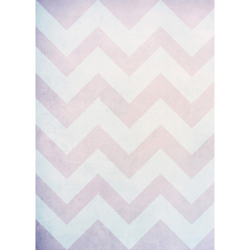 Westcott Washed Chevron Matte Vinyl Backdrop with Grommets (5 x 7', Vintage Red)