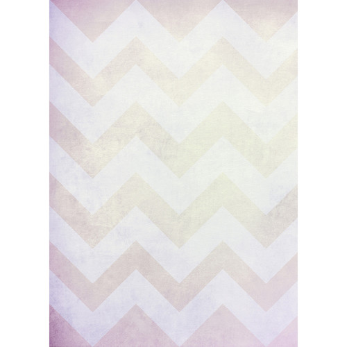 Westcott Washed Chevron Matte Vinyl Backdrop with Grommets (5 x 7', Vintage Yellow)