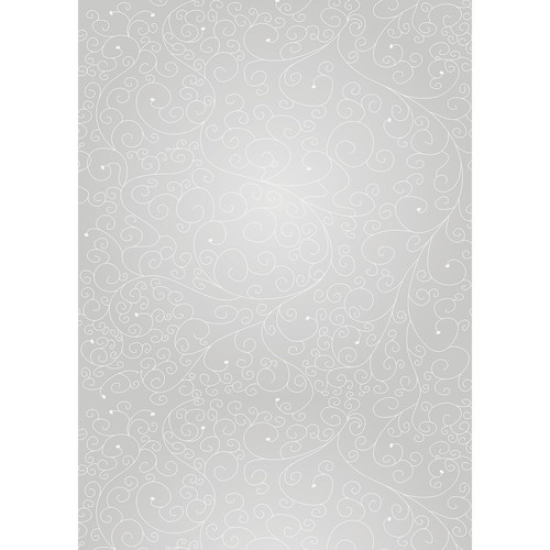 Westcott Swirls Art Canvas Backdrop with Grommets (5 x 7', Gray)