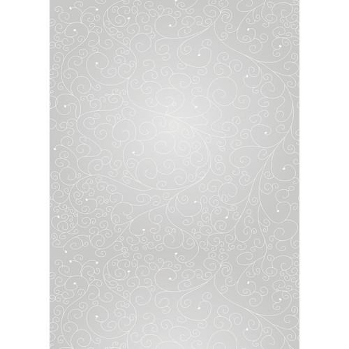 Westcott Swirls Matte Vinyl Backdrop with Grommets (5 x 7', Gray)