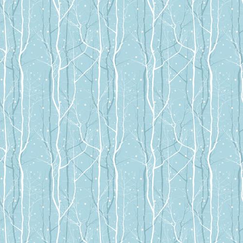 Westcott 3.5 x 3.5' Winter Trees/Canvas Backdrop - Blue
