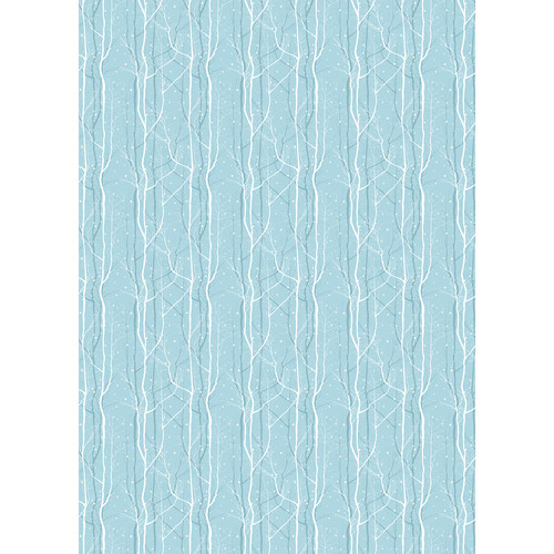 Westcott Winter Trees Matte Vinyl Backdrop with Grommets (5 x 7', Blue)