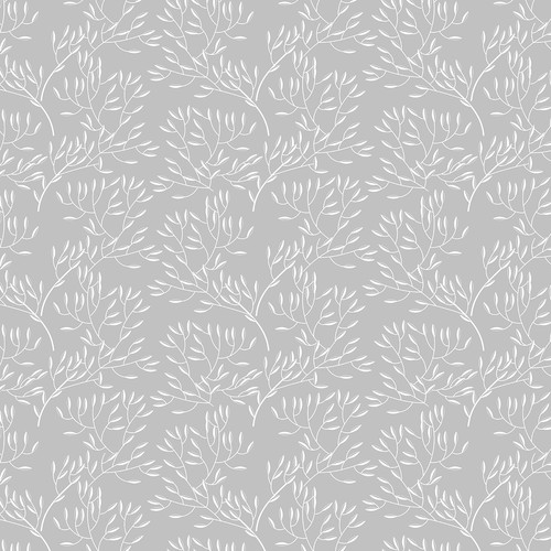 Westcott Leaves Art Canvas Backdrop with Hook-and-Loop Attachment (3.5 x 3.5', Gray)