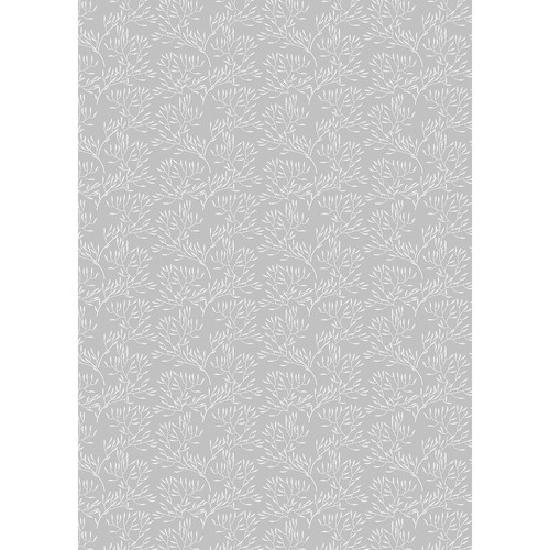 Westcott Leaves Art Canvas Backdrop with Grommets (5 x 7, Gray)